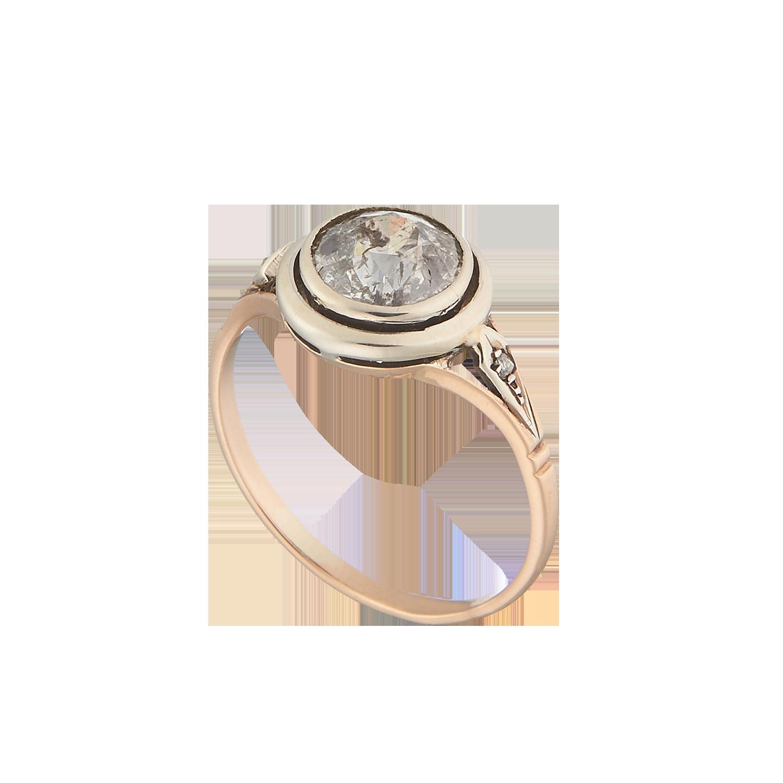 Антикварное кольцо с бриллиантами.