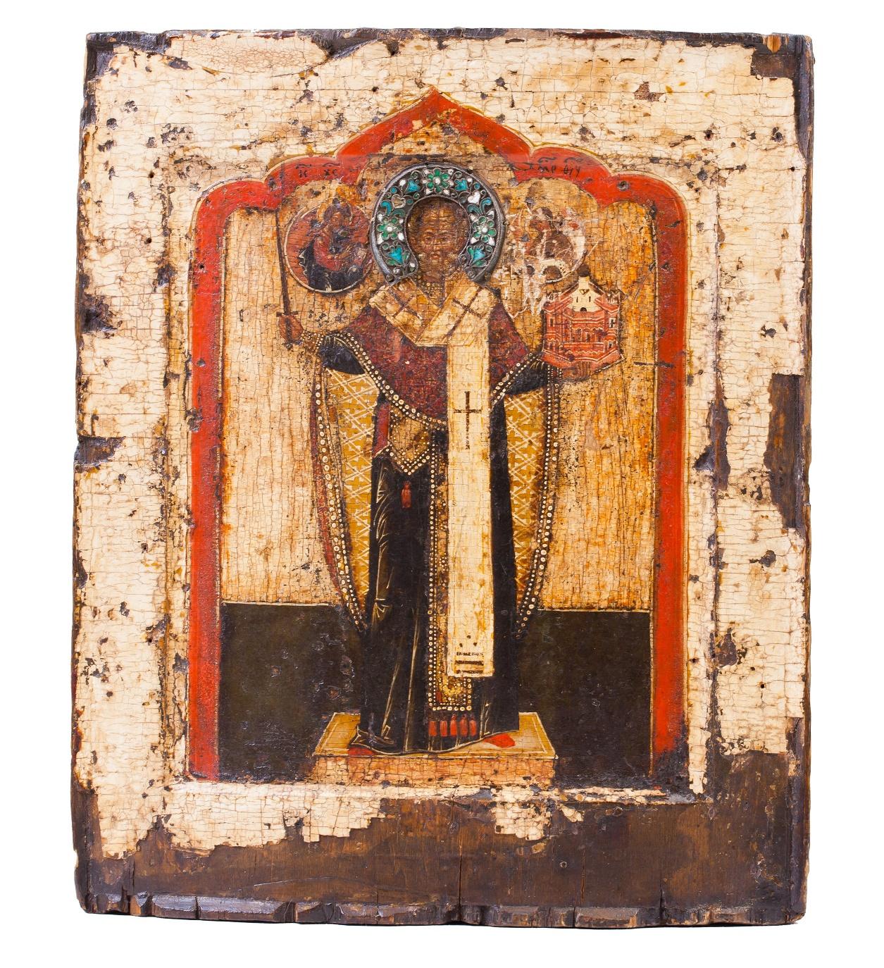 Икона Святитель Николай Можайский. 17в.