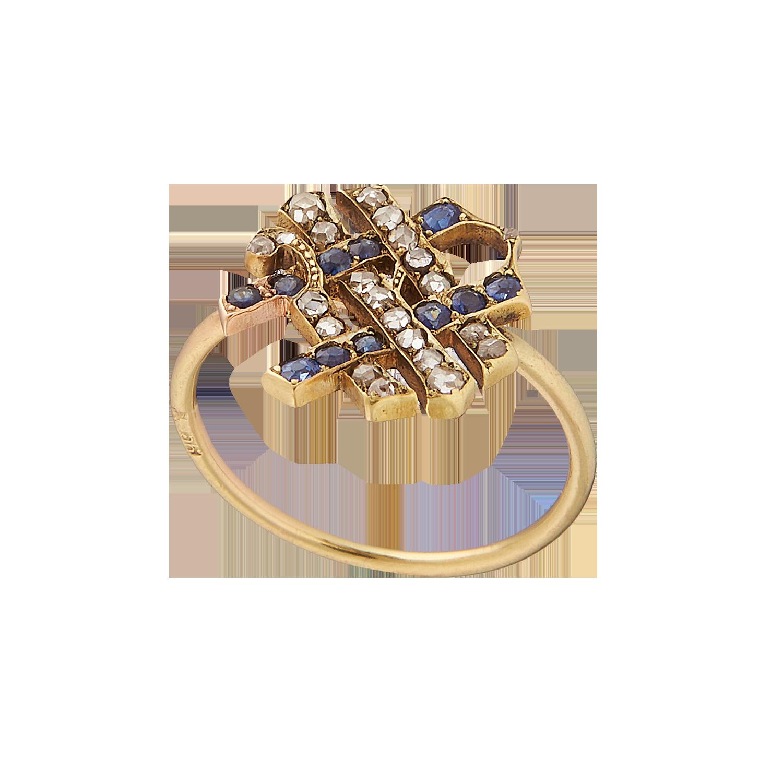 Антикварное кольцо с бриллиантоми